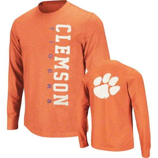 Clemson Tigers Purple Hurricane Slub Knit Long Sleeve T-Shirt