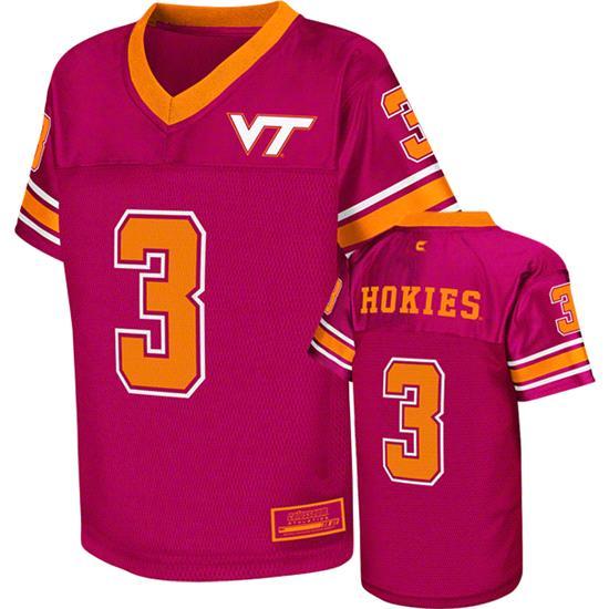 Virginia Tech Hokies Kids 4-7 Maroon Stadium Football Jersey