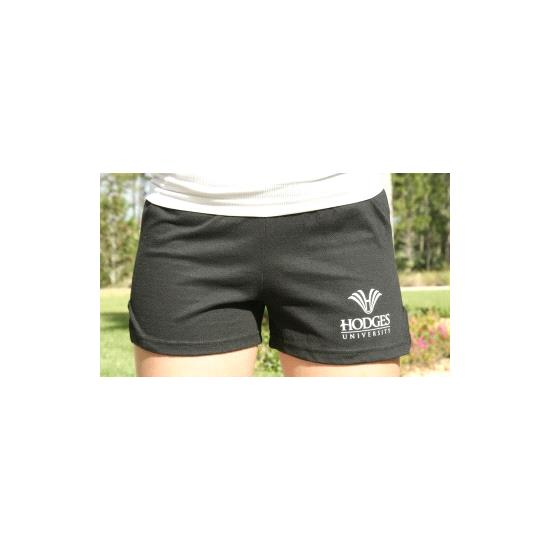 Hodges University Shorts Ladies Logo Cheer Short - Black