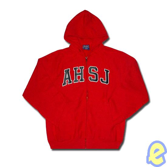 American Heritage of South Jordan Red Appliqued Full Zip Hoody