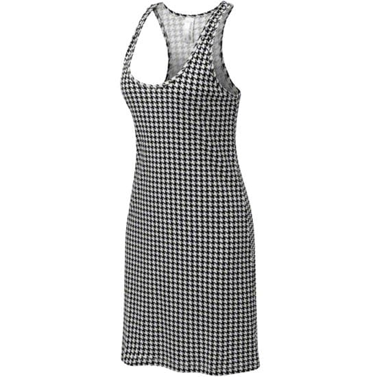 Women's Black/White Houndstooth Game Bibs Sundress
