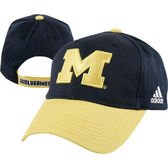 Michigan Wolverines Kids (4-7) adidas Navy Colorblock Flex Fit Hat