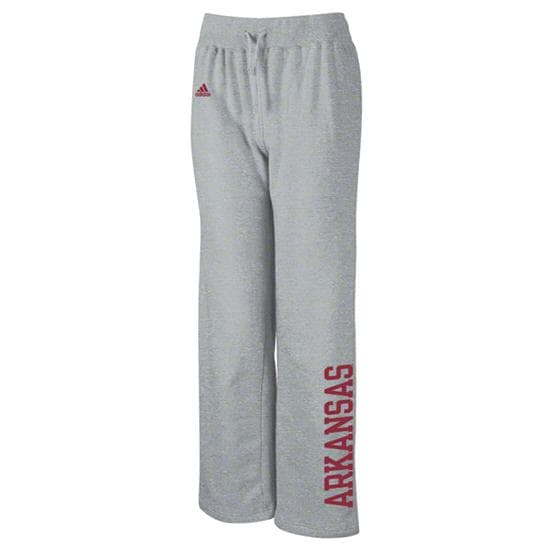 Arkansas Razorbacks adidas Women's Grey Word Plus Stretch Fleece Pants