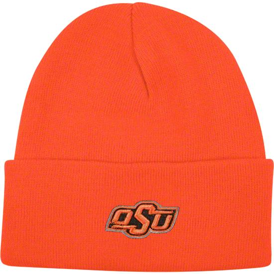 Oklahoma State Cowboys Team Color Simple Cuffed Knit Hat