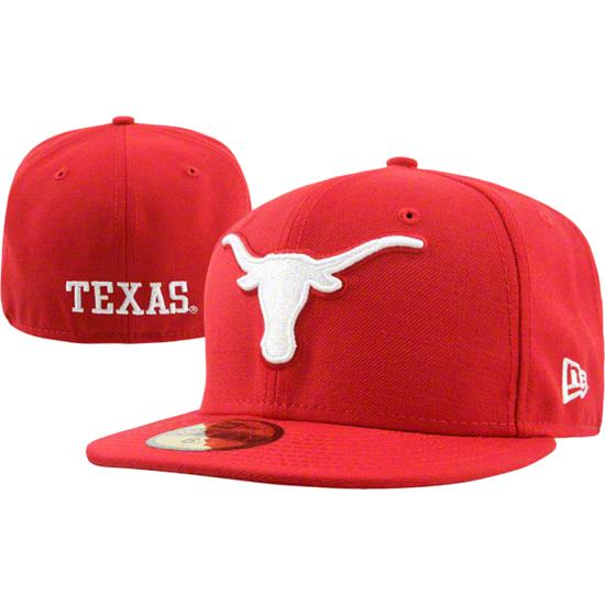 Texas Longhorns Red New Era 59FIFTY Fitted Hat