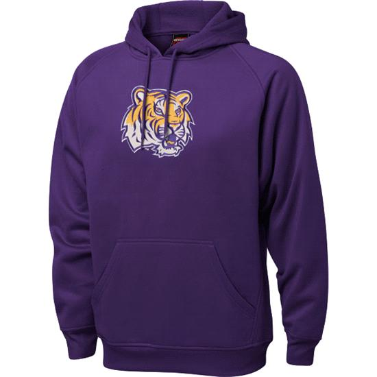LSU Tigers Purple Tackle Twill Performance Fleece Hooded Sweatshirt