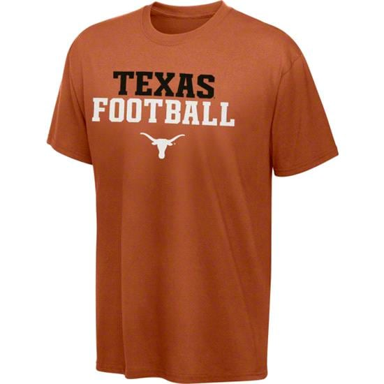 Texas Longhorns Kids 4-7 Dark Orange Football Practice T-Shirt