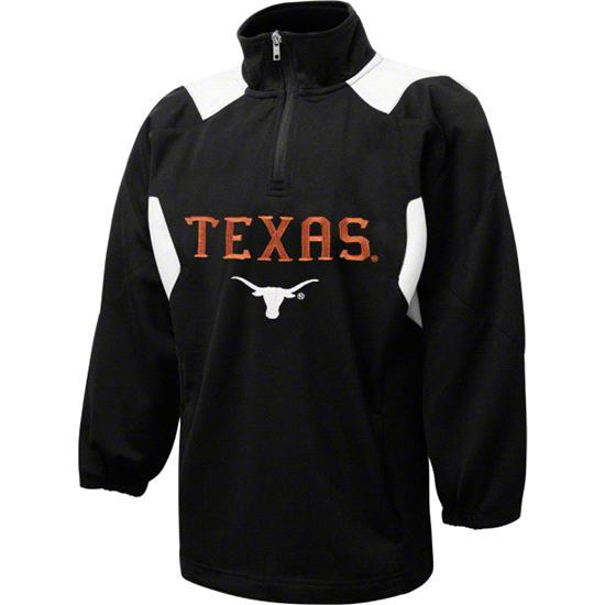 Texas Longhorns Youth Dark Orange Scorch 1/2 Zip Pullover Jacket