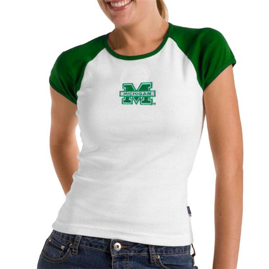 Michigan Wolverines Kelly Green Women's All Star Tee