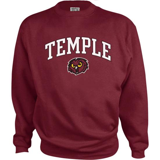 Temple Owls Kids/Youth Perennial Crewneck Sweatshirt