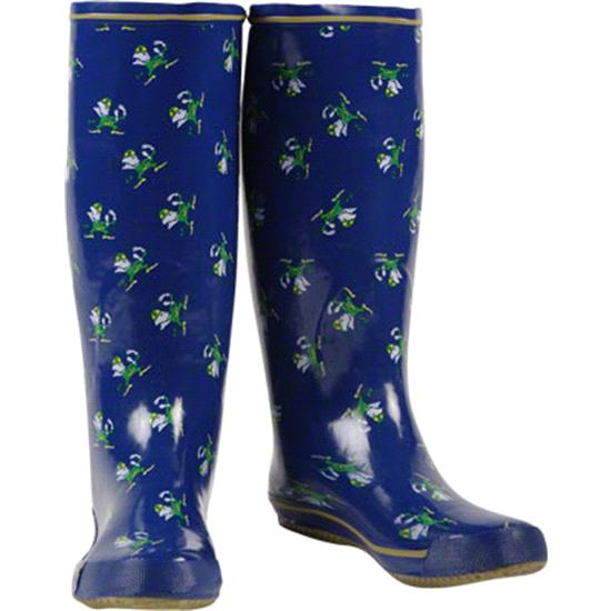 Notre Dame Fighting Irish Women's Navy All-Over Print Rubber Rain Boots