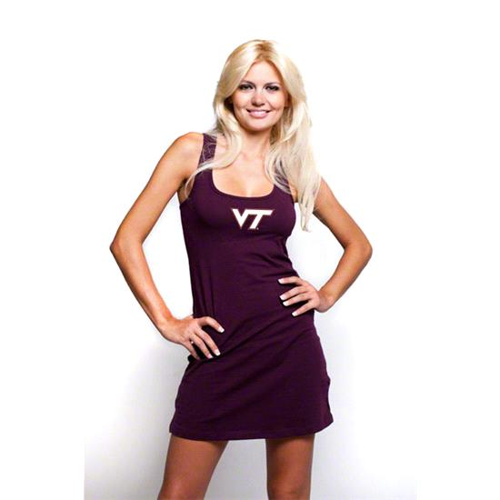 Virginia Tech Hokies Women's Maroon Tank Dress