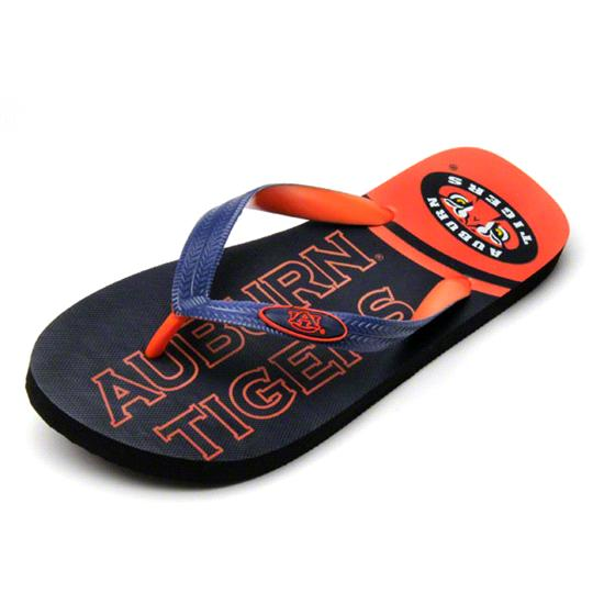 Auburn Tigers Zori Flip Flops