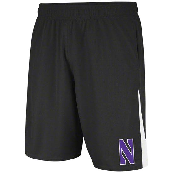 Northwestern Wildcats Black adidas 2012 Football Sideline Shorts