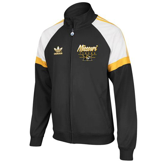 Missouri Tigers Black adidas Originals BTC Full-Zip Track Jacket