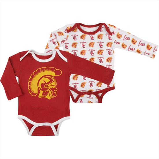 USC Trojans Cardinal Aliso Creek Bodysuit 2 Pack Set