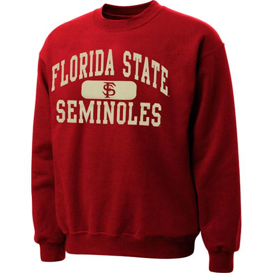 Florida State Seminoles Garnet Piller Crewneck Sweatshirt