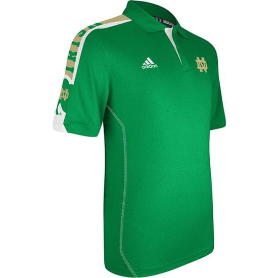 Notre Dame Fighting Irish Green adidas 2012 Football Sideline Swagger Polo