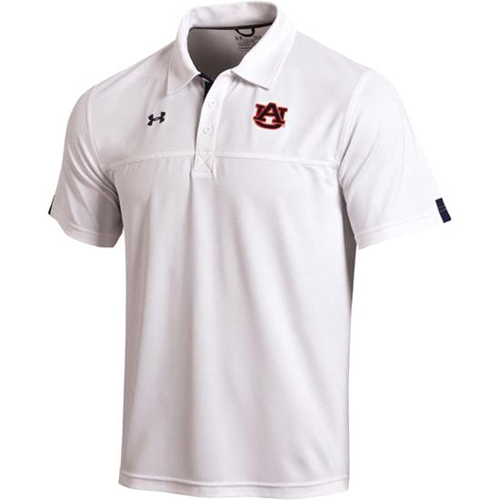 Auburn Tigers White Under Armour 2012 Football Sideline Contender Polo Shirt