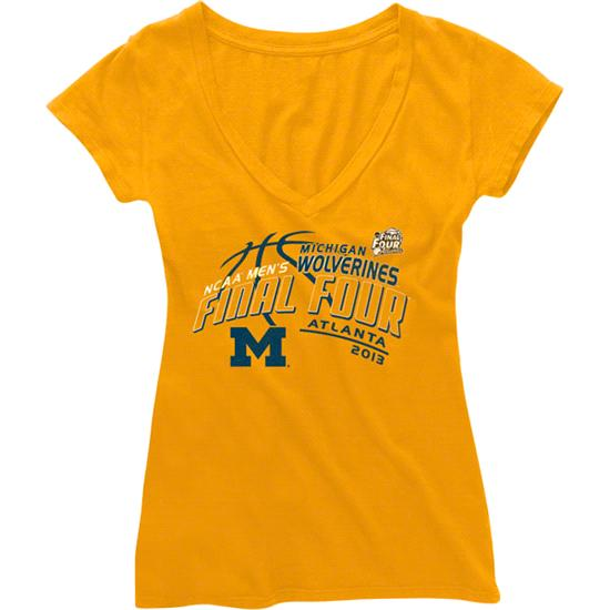 Michigan Wolverines Women's 2013 NCAA Basketball Final Four Soke V-Neck T-Shirt