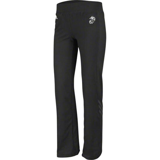 US Marine Corp adidas Black Women's Primary Logo Training Pants