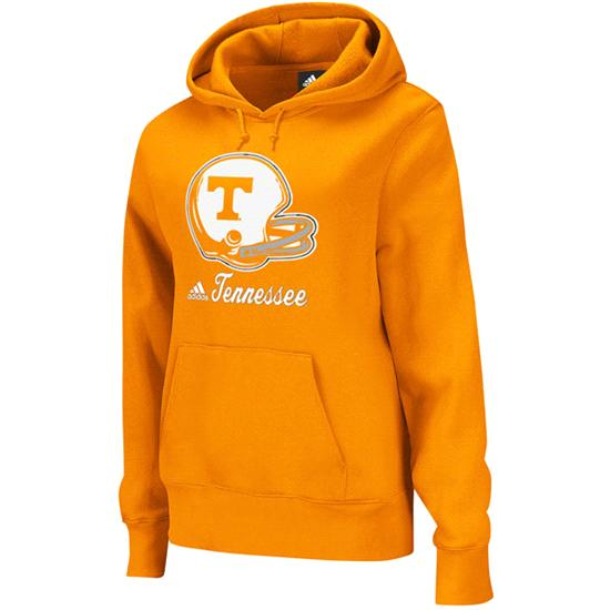Tennessee Volunteers adidas Orange Women's Helmet Patch Too Hooded Sweatshirt