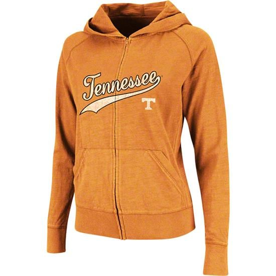 Tennessee Volunteers Women's Tennessee Orange Twist Long Sleeve Full-Zip Hooded Slub T-Shirt