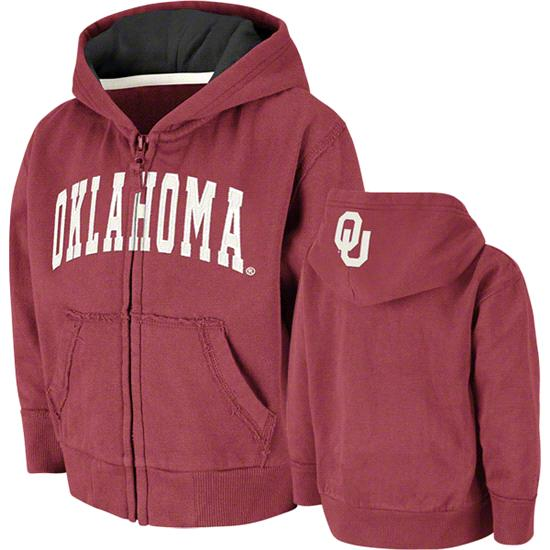 Oklahoma Sooners Toddler Cardinal Arcade Full-Zip Hooded Sweatshirt