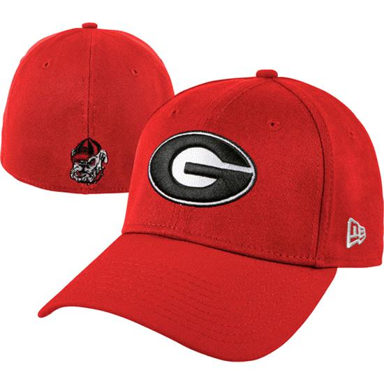 Georgia Bulldogs New Era Red 39THIRTY Classic Flex Hat
