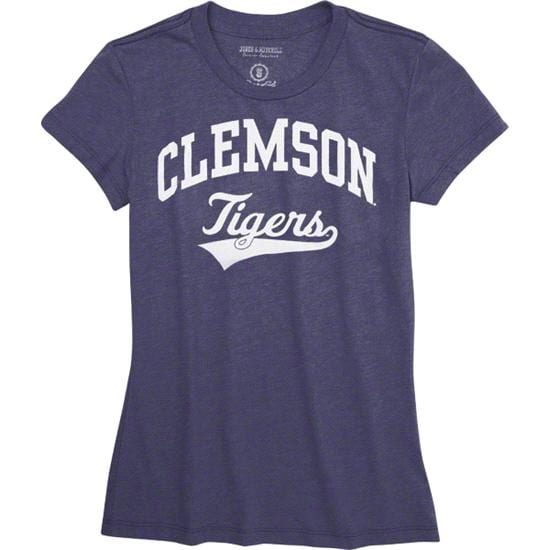 Clemson Tigers Women's Purple Jones & Mitchell Jumbotron T-Shirt