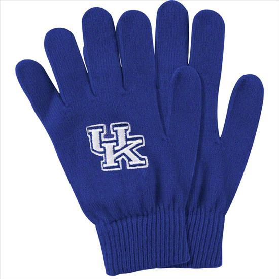 Kentucky Wildcats Royal Team Logo Knit Gloves