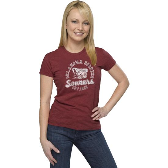 Oklahoma Sooners '47 Brand Women's Vintage Scoreboard Scrum Tee