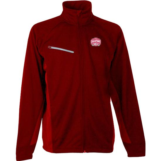 Alabama Crimson Tide 2009 BCS National Champions Red Motion Bonded Full Zip Jacket