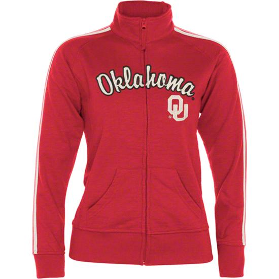 Oklahoma Sooners Women's Cardinal Pacer French Terry Track Jacket