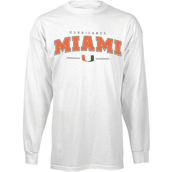 Miami Hurricanes Youth White Clean Slate Long Sleeve T-Shirt