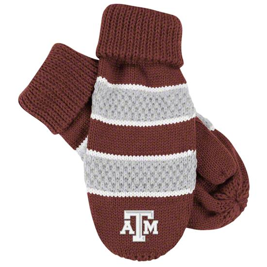 Texas A&M Aggies Women's adidas Striped Knit Mittens
