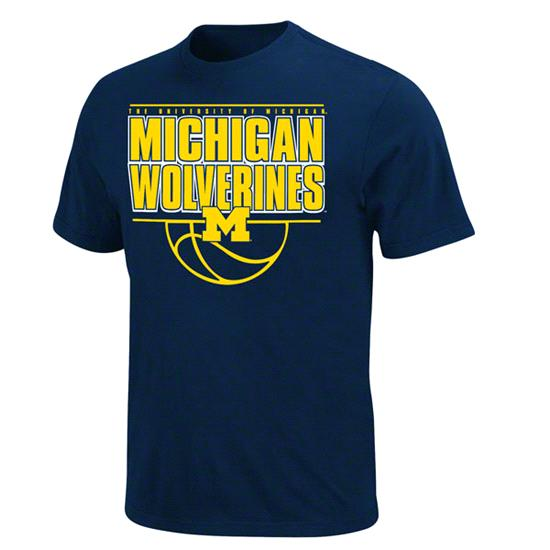 Michigan Wolverines Navy Comfortable Lead T-Shirt