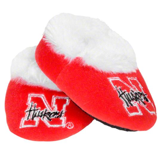 Nebraska Cornhuskers Baby Bootie Slipper