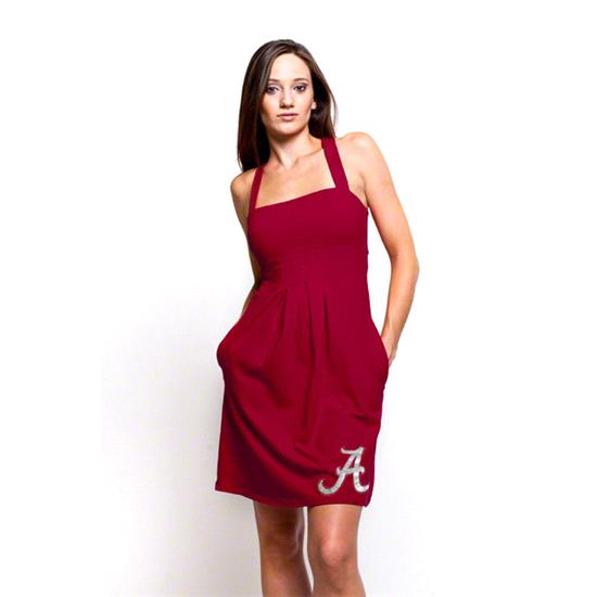 Alabama Crimson Tide Women's Crimson Pleated Dress with Pockets