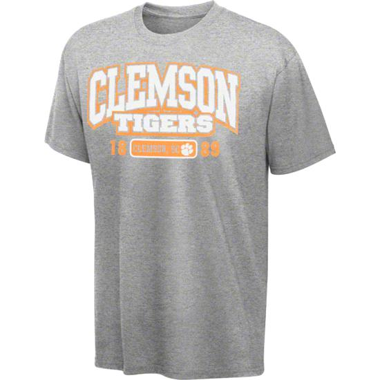 Clemson Tigers Grey Cube T-Shirt