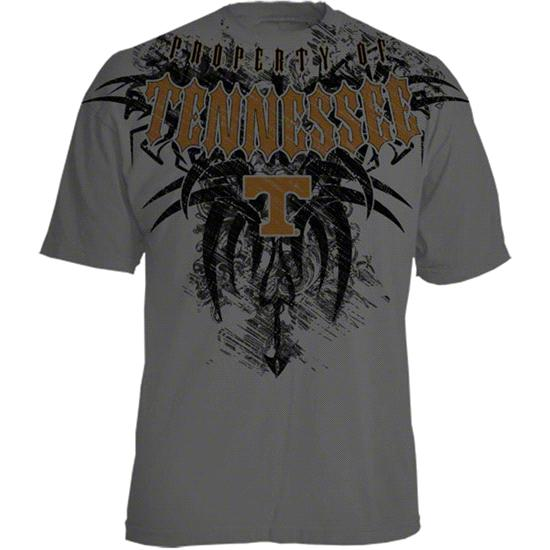 Tennessee Volunteers Charcoal Property of Tribal T-Shirt