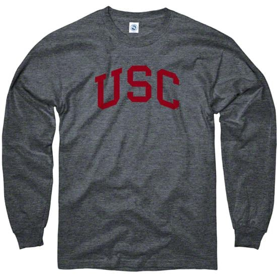 USC Trojans Dark Heather Arch Long Sleeve T-Shirt