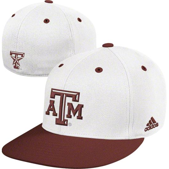 Texas A&M Aggies adidas On Field Baseball Fitted Hat