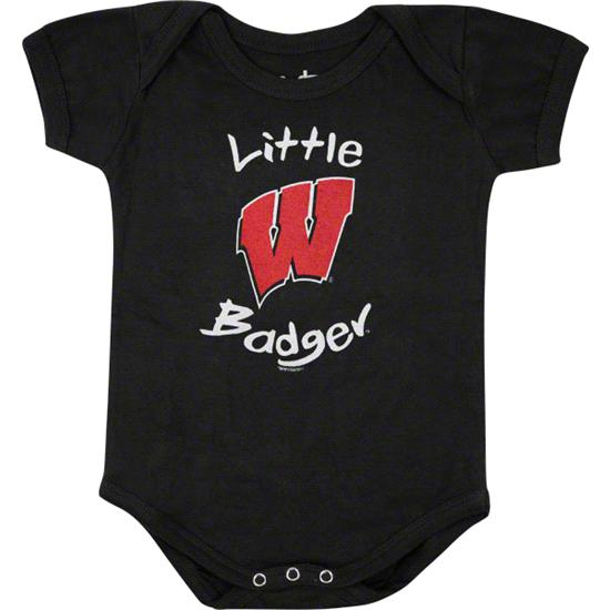 Wisconsin Badgers Newborn / Infant Black Lil' Pup Creeper