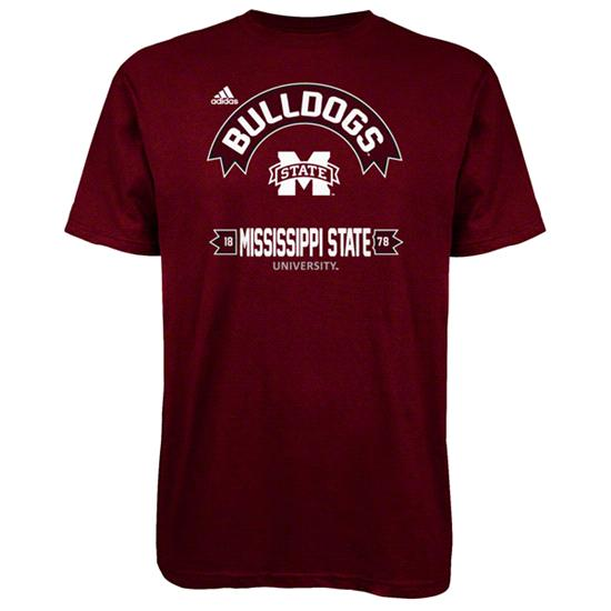 Mississippi State Bulldogs Maroon adidas Athletic Front T-Shirt