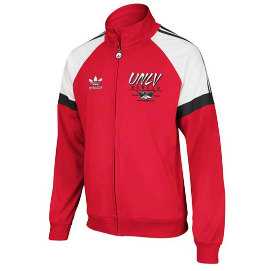 UNLV Runnin Rebels Red adidas Originals BTC Full-Zip Track Jacket