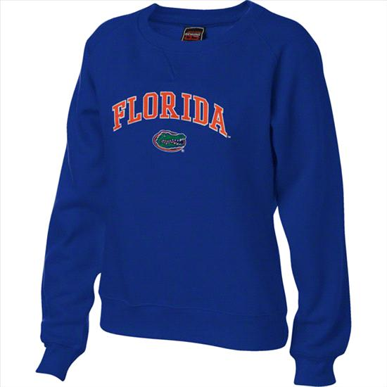 Florida Gators Women's Royal Tackle Twill Crewneck Sweatshirt