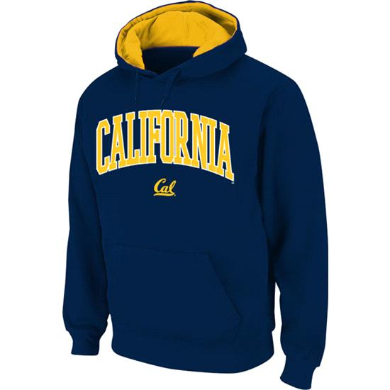 California Bears Navy Twill Arch Hooded Sweatshirt