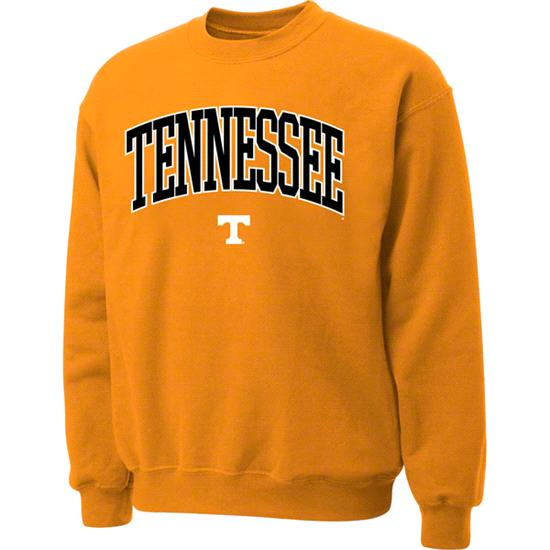 Tennessee Volunteers Light Orange Twill Arch Crewneck Sweatshirt