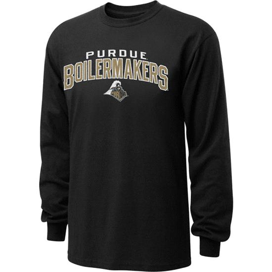 Purdue Boilermakers Black Just Gateway Long Sleeve T-Shirt
